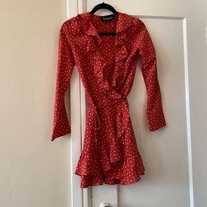Realisation Par Alexandra red star silk dress XS